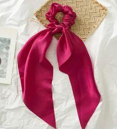 Floral Print Scrunchie Silk Elastic Hair Band For Women Hair Scarf Bows Accessories Ribbon Hair Ties, Hair Ribbons, Elastic Hair Bands, Hair Bows, Bow Ties, Scrunchies, Cooling Scarf, Velvet Hair, Hair Accessories For Women