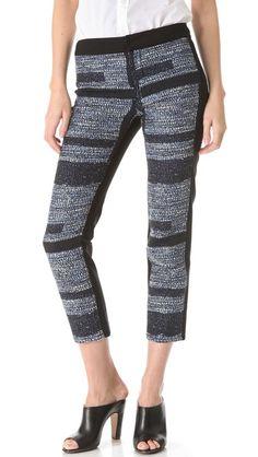 10 Crosby Derek Lam Box Jacquard Combo Pants    LOVE THESE!