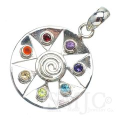 Genuine Gemstone Healing Chakra in Sterling. Starting at $1 on Tophatter.com!  #jewelery #auction #sterlingsilver #$1open #freeshipping #tophatter