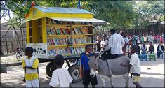 Donkey mobile library in Ethiopia