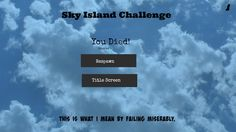 EndergirlUSA: Sky Island Challenge: This is What I Mean by Failing Miserably... {1}