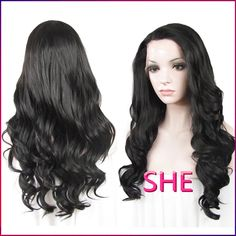 Find More Synthetic Wigs Information about Black Wig Synthetic Lace Front wig Glueless Long Natural Black 1B Heat Resistant Hair Wigs front lace wig synthetic,High Quality Synthetic Wigs from SHE Lady House on Aliexpress.com