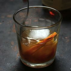 Old Fashioned Cocktail with Aztec Chocolate Bitters. #aviationcocktailraybans