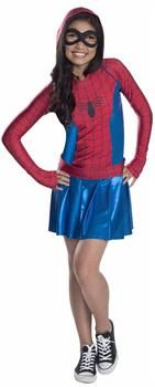 This Kids Hooded Dress Spidergirl Costume Includes A Hooded Dress Belt And Mask Size: L. Marvel Kids' Spider-Girl Hooded Dress Halloween Costume - L Multi-Colored Spider Girl Halloween Costume, Halloween Costume Awards, Halloween Costumes For Girls, Halloween Dress, Cool Costumes, Halloween Christmas, Twin Halloween, Teen Costumes, Spider Girl Kostüm
