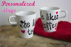 Personalized Mugs for your Love Valentines Day Presents, Valentines Mugs, Valentine Day Special, Be My Valentine, Presents For Men, Pinterest Projects, Special Quotes, Personalized Mugs, Mug Cup