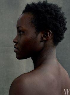 Lupita  Nyong'o by Annie Leibovitz for Vanity Fair's 2016 Hollywood Portfolio