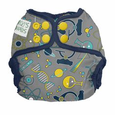 Nicki's Diapers- Whiz Kid!Introducing Whiz Kid! The newest print from Nicki's Diapers! Inspire the scientist in your little one with microscopes, heterocyclic compounds, planets, test tubes, prisms, etc!