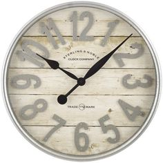 Buy Better Homes & Gardens Farmhouse Plank with Galvanized Finish Wall Clock Farmhouse Wall Clocks, Country Farmhouse Decor, Modern Farmhouse, Farmhouse Style, Rustic Decor, Farmhouse Mantel, Cottage Farmhouse, White Farmhouse, French Cottage