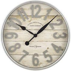 Buy Better Homes & Gardens Farmhouse Plank with Galvanized Finish Wall Clock Farmhouse Wall Clocks, Country Farmhouse Decor, Farmhouse Style, Rustic Decor, Farmhouse Mantel, Farmhouse Office, Cottage Farmhouse, White Farmhouse, French Cottage