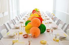 Pucker up citrus themed bridal shower   Photo by You Look Lovely   Read more - http://www.100layercake.com/blog/?p=78315