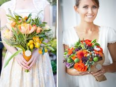 For all the recently engaged Cleveland brides out there (or really anyone who appreciates plants and gardens), see this wonderful new trend using vegetables and fruits in bouquets