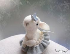 Felt mini bunny girl plushie <3 by LoveLingZ