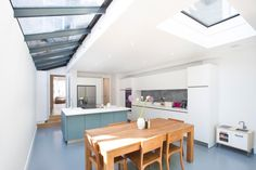 Side Return Extension on a Victorian Terraced House in Highbury, N5, Greater London, Glass Roof, Velux Roof Light, Flat Roof, Structural Glazed Roof, Wraparound Extension, Kitchen Extension Ideas, Rear Extension