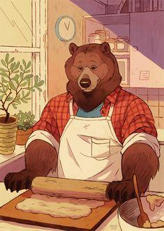 Bear Drawing, Furry Drawing, Bear Character, Bear Illustration, Anime Furry, Bear Cartoon, Anthro Furry, Bear Art, Character Design Inspiration