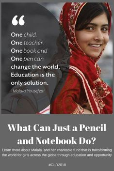 Learn more about Malala and her fund that is transforming the world for girls around the globe through education and opportunity #Malala #education #global #girls