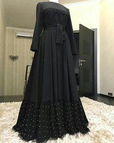 Modest Fashion Hijab, Abaya Fashion, African Fashion Dresses, Fashion Outfits, Mode Abaya, Mode Hijab, Moslem Fashion, Mode Top, Abaya Designs
