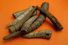 """Viking artifacts, Carved antler tips Excavation at Jorvik (York), England Jorvik (York) was captured by a Viking army in 866 The name Jorvik means ""Wild Boar Creek"" """