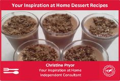 These recipes are inspired by and use the Your Inspiration at Home gourmet range. In particular, the chocolate powders, sweet dukkahs, baking spices, flavoured honey powders and flavoured sugars. I try to make my desserts as healthy as I can, but sometimes you just can't!