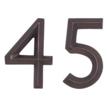 Various styles of really neat house numbers for inspiration