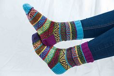 Here's a great pattern for using up all of those leftover scraps of sock yarn!