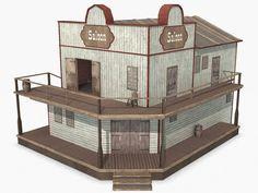 www.turbosquid.com Wild West Buildings - Saloon