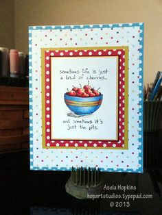 Stampin' Up! Giggle Greetings Bowl of Cherries Card design