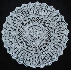 free rug pattern.. well okay it's actually a doily, but w/ yarn instead of thread you'll have a rug