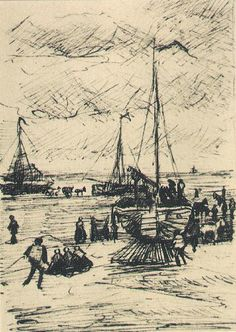 Beach and Boats  The Hague: 3 September 1882