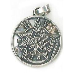 Colgante Tetragramaton en plata de ley. 2 cm. El pentagrama es el símbolo mágico más ...