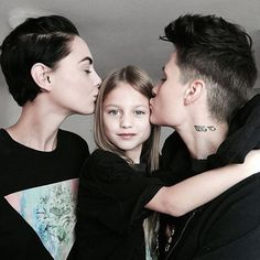 """In addition, currently about 2 million children are raised by lesbian and gay parents"" (Shaw & Lee) Cute Lesbian Couples, Lesbian Love, Lesbian Family Photos, Lesbian Wedding, Family Goals, Couple Goals, Mom Family, Tattoo Style, Lgbt Love"