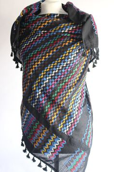 WIH Keffiyehs - Multicolour Black