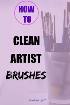 Not cleaning brushes properly can quickly ruin them and take the joy out of your painting. Proper care can keep your brushes around for a long time. Cleaning Paint Brushes, Acrylic Paint Brushes, Acrylic Painting For Beginners, Simple Acrylic Paintings, Pencil Painting, Acrylic Painting Tutorials, Artist Brush, Drawing Skills, Brush Cleaner