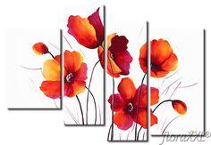 Resultado de imagen de amapolas flores Multi Canvas Painting, Canvas Art, Wall Art Pictures, Pictures To Paint, Painting & Drawing, Watercolor Paintings, Indian Art Paintings, Acrylic Flowers, Flower Canvas