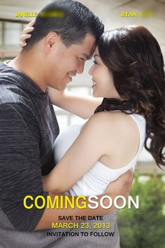 our movie poster (The Vow) save the date. we watched this movie right before he proposed on valentine's day