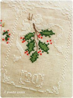 Shabby Advent Calendar 20 Cuore e Batticuore - il punto croce