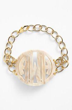 Gorgeous monogram bracelet http://rstyle.me/n/ui33wn2bn