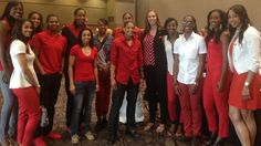 WNBA Cares: Go Red for Women      The Tulsa Shock supported WNBA Cares week at the Go Red for Women Luncheon in Tulsa. Go Red supports women's heart health research and is a great community element of the American Heart Association.