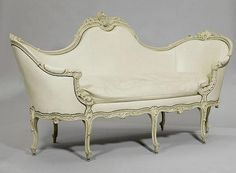 PAINTED CANAPE 'CORBEILLE', Louis XV style,