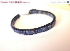 Men's Lapis Lazuli Leather Bracelet