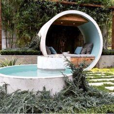 Backyard Sitting Areas, Small Backyard Pools, Diy Pool, Small Pools, Small Patio, Piscine Diy, Stock Tank Pool, Concrete Pool, White Concrete