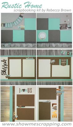 Show Me Scrapping Blog: NEW Rustic Homes Scrapbooking Kit - 6 pages to celebrate family, home & love using the Close To My Heart Rustic Home collection.