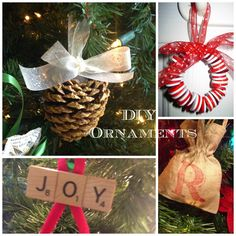 "Twenty Quick and Easy DIY Ornaments with a ""How I Made It"" for each one."