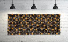 Arte de la pared o cabecera de rey de escultura de madera