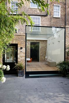 Listed buildings with Structurally Glazed Extensions House Extension Design, Glass Extension, Extension Ideas, Rear Extension, Metal Building Homes, Building A House, Exterior Design, Interior And Exterior, Glass Room