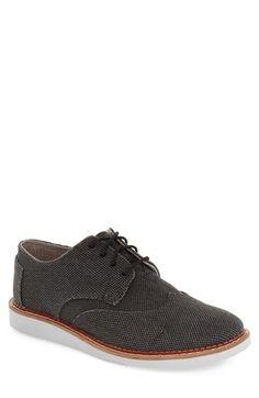 TOMS 'Classic Brogue' Cotton Twill Oxford (Men). #toms #shoes #flats