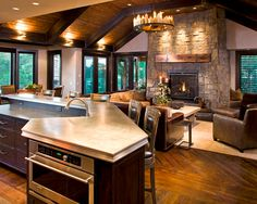 Family room-kitchen! Love this.