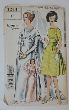 Reduced Vintage 1960s Sewing Pattern Special Design  by TownLane