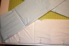 Crib bumper tutorial found at http://www.vanillajoy.com/diy-crib-bedding-part-i-crib-bedding.html