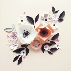 """Paper Crafts = Hanna Nyman Paper poetry by Stockholm based designer and print designer Hanna Nyman. WebShop on website. """"  I have always loved flowers. My grandmother was a florist and I remeber visiting her in the flower shop as a child sittning on the counter just taking all the beauty and scent in! ❤️"""""""