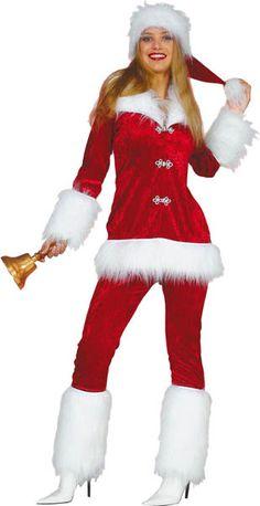 089590854863f COSTUME MISS SANTA PANTALON EFFET VELOURS 36 (SANS BONNET). Locationde  costumes · Costume Mère Noël